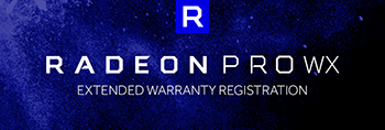 radeon pro warranty registration banner